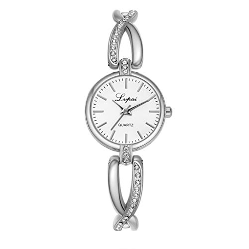 LUCAMORE Women's Stainless Steel Petite Vintage Inspired Crystal Bracelet Watch Casual Simple Dress Watches for Women