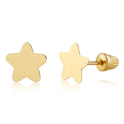 (Balluccitoosi 14k Gold Tiny Star Stud Earrings for Women & Girls - Real Hypoallergenic for Sensitive Ears, Small & Minimalist)