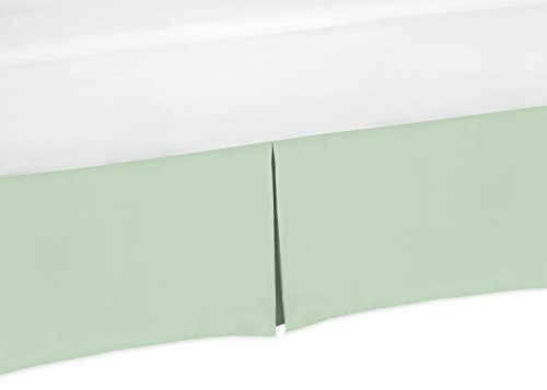 Mint-Green-Crib-Bed-Skirt-for-Baby-Bedding-Sets