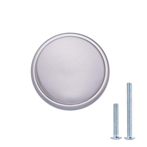 - AmazonBasics Modern Wide Top Ring Round Cabinet Knob, 1.52 Inch Diameter, Satin Nickel, 25-Pack
