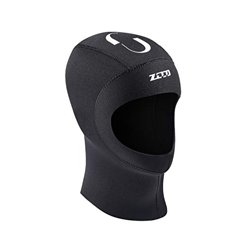 ZCCO Diving Hood Men and Women 3MM Snorkeling surf Sunscreen Diving Cap Winter Swimming Warm Diving Cap (Black, M) ()