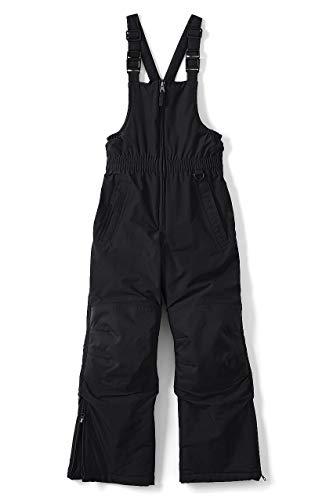 Lands' End Little Boys Squall Waterproof Iron Knee Winter Snow Bibs, 5, Jet Black ()
