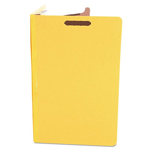 Universal 10214 Pressboard Classification Folders, Legal, Four-Section, Yellow, 10/Box