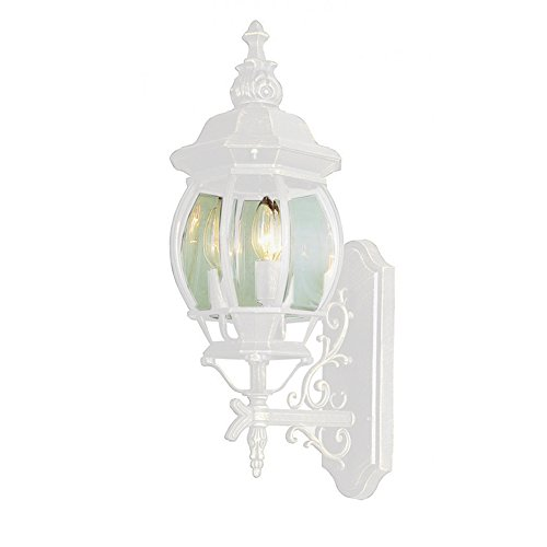 Transglobe Lighting 4051 WH Outdoor Wall Light with Beveled Glass Shades, White Finished