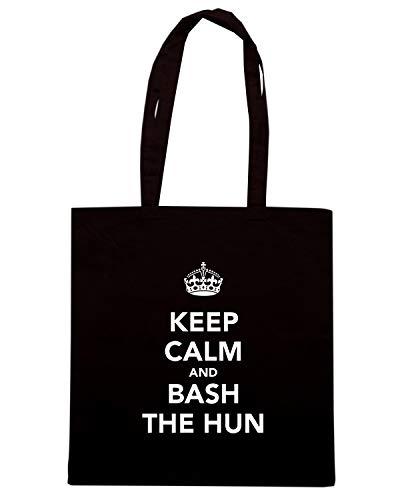 Speed Shirt Borsa Shopper Nera TKC0420 KEEP CALM AND BASH THE HUN
