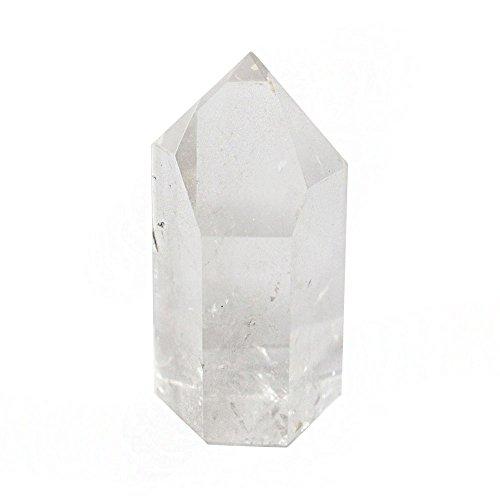 Inclusion Quartz Crystal - Rock Paradise ONE (1) Polished Crystal Quartz Point - Crystal Quartz Point - Reiki - Metaphysical Exclusive COA