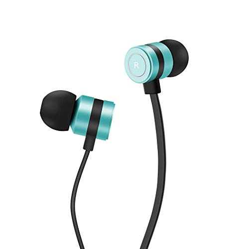 Headphones, Earbuds in-Ear Headphones Noise Isolation Headsets Heavy Bass Earphones with Microphone Compatible iPhone Samsung iPad and Most Android Phones,tm3 (Green)