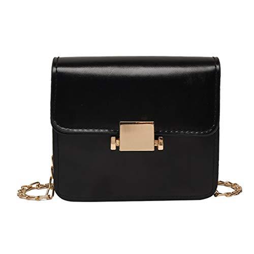 Women Satchel Bag Leather Vintage Handbag Crossbody Small Doctor Bag Metal Lock - Metal Strap