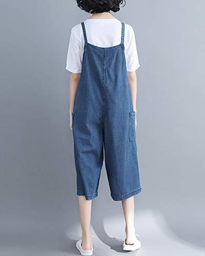 Bavaglino In Leisure Larga Tuta Jeans Gamba Kasen Salopette Jumpsuit Blu Donna Pantaloni qEwWCxUR