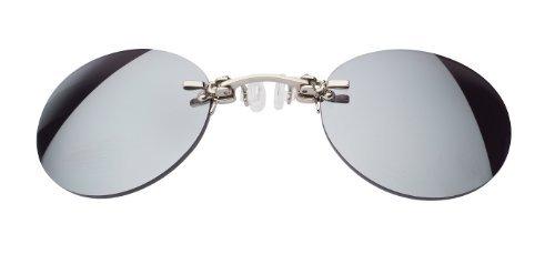 lunettes pince nez, argenté, rouge miroir
