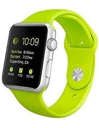 Pulseira Sport Tamanho Feminino Verde Compativel com apple watch de 42mm e 44mm