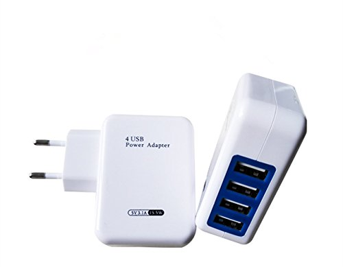 USB Wall Charger 4 Port Universal Foldable Plug Travel Adapter for iPhone Galaxy