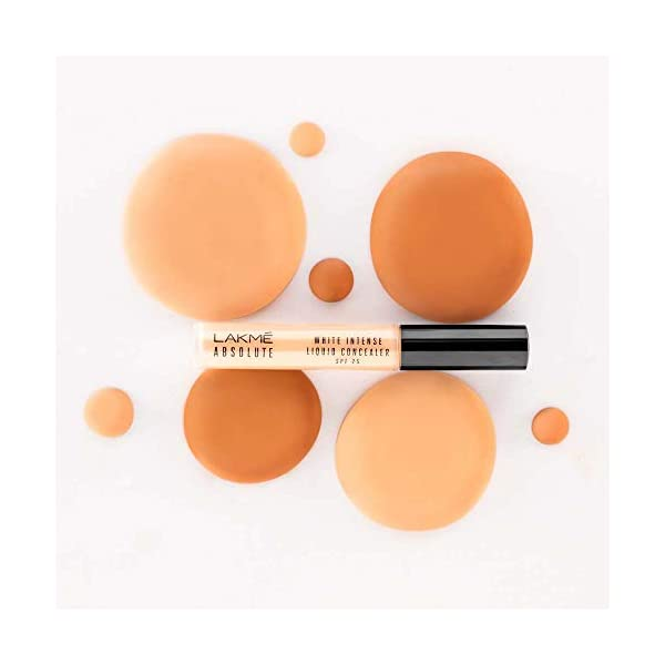 Lakmé Absolute White Intense Liquid Concealer, Ivory Fair, 5.4ml 2021 July Crease proof effect with soft optics Delivers a smooth and flawless finish Hides imperfections and covers dark circles