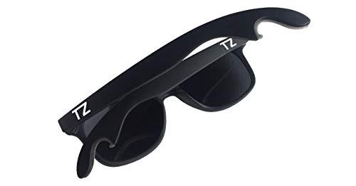 (Polarized UV Protectant Bottle Opener Wayfarer Sunglasses Impact Resistant Tailgate Party/Fashion (Matte Black, Mirrored))