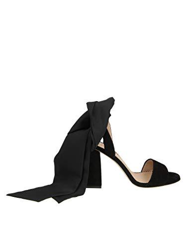 Suède Femme Sandales Valentino PQ0S0A720NOCXM Noir Red IS5CHwqMx