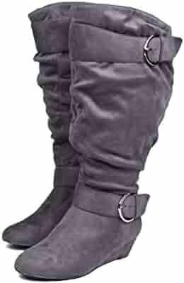 e85485f06eb Shopping Grey or Green - Knee-High - Boots - Shoes - Women ...