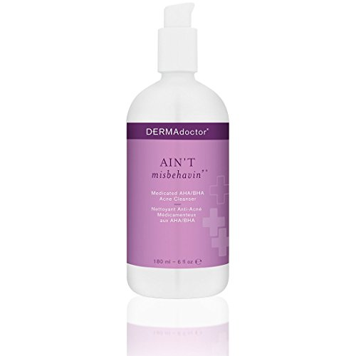 DERMAdoctor Ain't Misbehavin' Medicated AHA/BHA Acne Cleanser, 6 fl. oz.