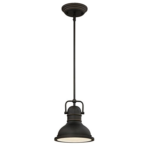 Westinghouse 63082A Boswell One-Light LED Indoor Mini Pendant, Oil Rubbed (Bronze Mini Lens)