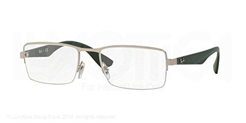 Ray-Ban Eyeglasses RX6331 2849 Matte Silver 52 19 - Rimless Glasses Prescription Ray Ban