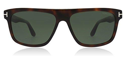 Tom Ford FT0628 52N Dark Havana Cecilio Rectangle Sunglasses Lens Category 3 ()