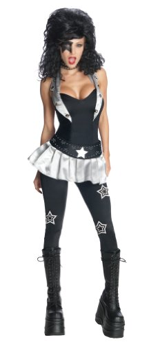 Kiss Starchild Costumes (Secret Wishes KISS Sexy The Starchild Costume, Black, X-Small)