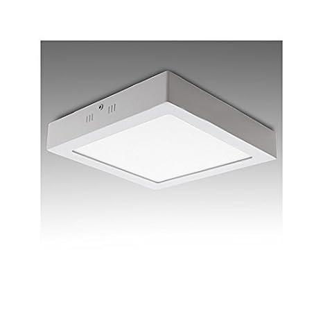 Plafón de Techo de LEDs Cuadrado de Superficie 300mm 24W 1900Lm ...