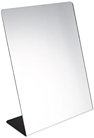 freestanding rotating storage mirror sax free standing single sided self portrait full length with lights white