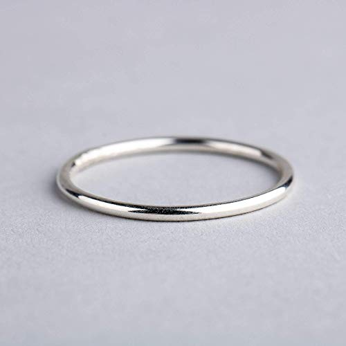 Size 10 Smooth Stacking Ring in Sterling Silver