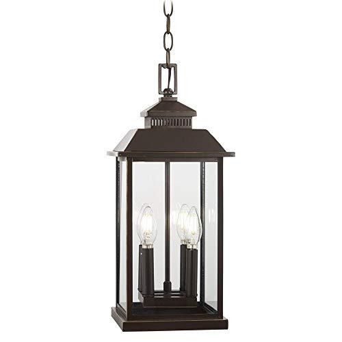 Loft Light 4 (Minka Lavery Outdoor Pendant Lighting 72594-143C Miner's Loft, 4-Light 160 Watts, Oil Rubbed Bronze)