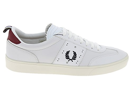 Fred Perry Umpire Leather Bradley Wiggins White blanco