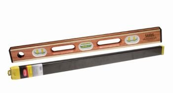Kraft Tool SL12AB24C Sands Professional Brass Bound Level with Case, (Brass Bound Level)