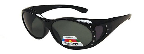Rhinestone Polarized Sunglasses that Fit Over your Prescription - Sunglasses Which Over Glasses Fit