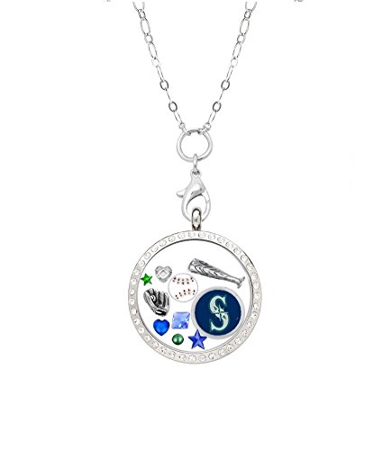 Final Touch Gifts Seattle Mariners Floating Locket on 32