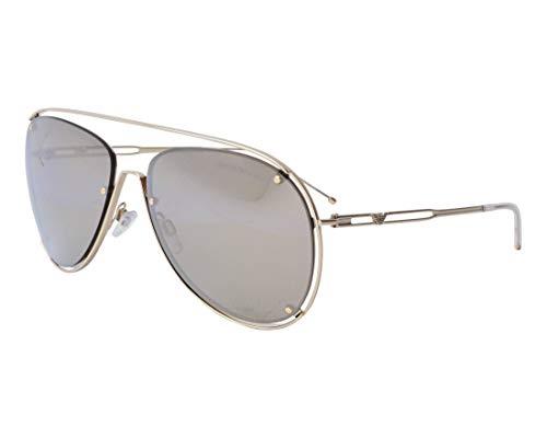 Armani Aviator Sunglasses - Armani EA2073 Sunglasses 30135A-63 - Pale Gold Frame, Light Brown Mirror Gold EA2073-30135A-63