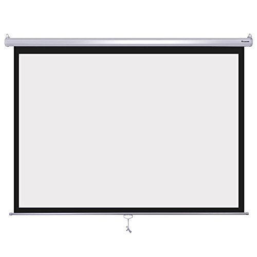Instahibit 72inches Diagonal 4:3 Manual Pull Down Projection Screen Matte 57