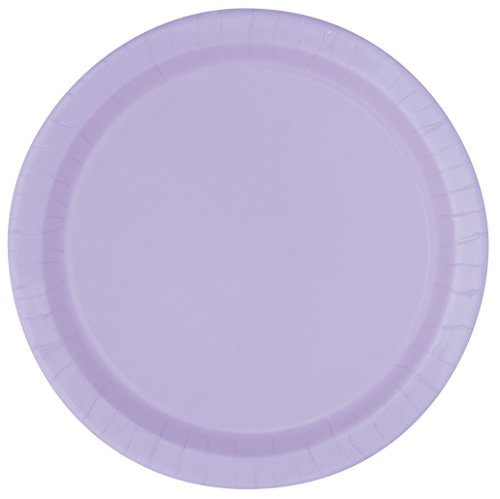 Lavender Paper Cake Plates, 20ct (Serving Purple Plate Round)