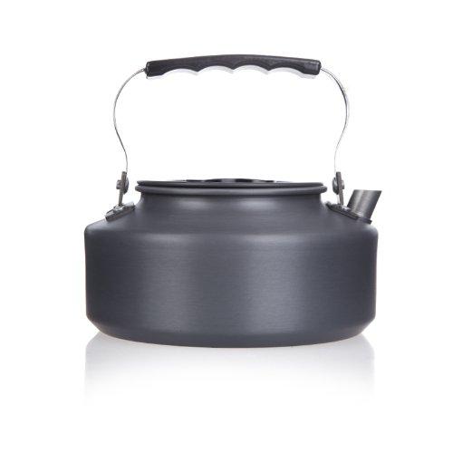 Lixada 1.1L tragbare Super Leicht Wasserkocher Teekanne Kaffeekanne aus eloxiertem Aluminium für Outdoor Wandern Camping Picknick
