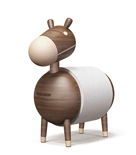 Crafts Toilet Paper Holders - MUSOR] Donkey Wood Craft Natural Solid Wooden Design Home Decoration Toilet Paper Holder Stand Bathroom Paper Dispenser