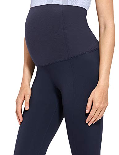 Gratlin Women's Maternity Active Pants Pregnant Stretchy Leggings with Belly...