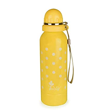Tuelip Stainless Steel Water Bottle for School Going Kids Girls & Boys,College,Gym,Sports Water Bottle 750 ML- Yellow