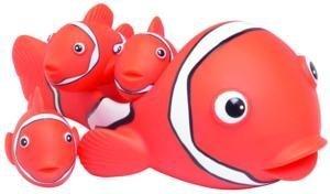 Clown Fish Family 4 piece Bath Tub Toy