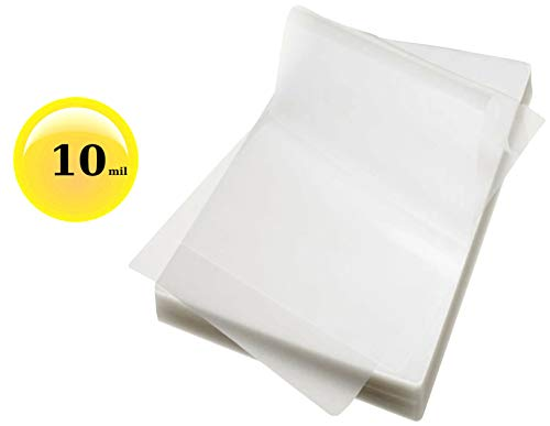 10 Mil File Card Laminating Pouches 3-1/2 x 5-1/2 Sleeves Qty 100