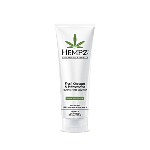 (Hempz Herbal Body Wash, Pearl White, Fresh Coconut/Watermelon, 8.5 Fluid Ounce)