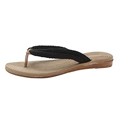 RAINED-Women's Summer Flip Flops Casual Beach Slippers Outdoor Sandals Shoes Easy Braided Thong Flat Sandals