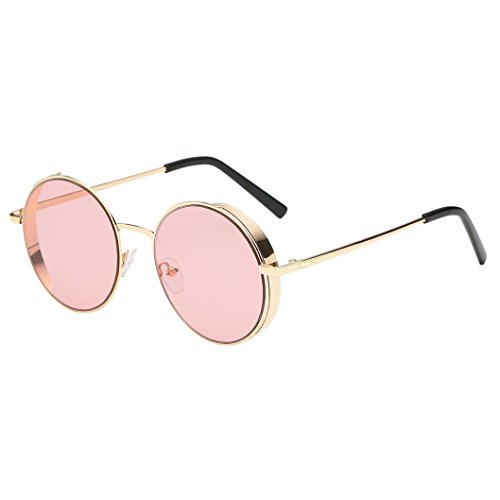 TOOPOOT Clearance Deals Glasses, Unisex Summer Round Frame Shades Classic Colored Sunglasses - Shades Baseball