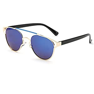 Konalla Reflective Coating Mirrored Lens Sunglasses One-Piece Frame Woman C1
