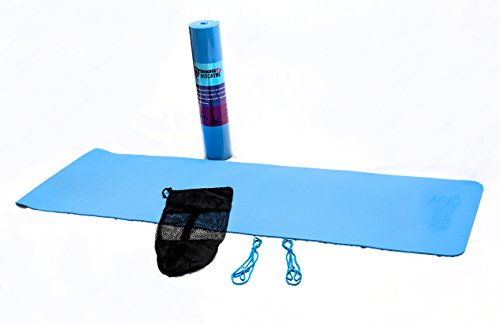 Yoga Mat- 100% Natural Rubber- Thick Non Slip Surface- Comes with Travel Bag and Carry Straps- Made by Shades By Biscayne