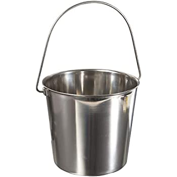 Update International UP-13 13 Quart Utility Pail, 202 Stainless Steel