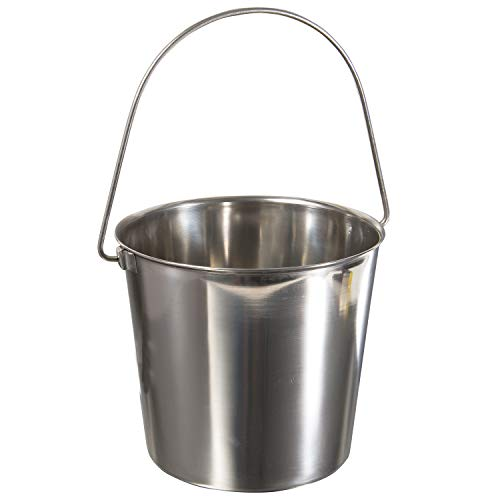 (Update International UP-13 13 Quart Utility Pail, 202 Stainless Steel)