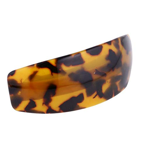 Womens Plastic Leopard Pattern Hair Pin Barrette Clip Banana Ponytail Headpiece (Item - - Copper Polar Mirror